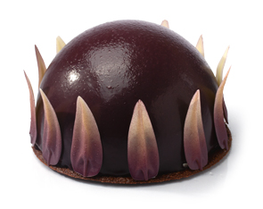 gateau dome cassis
